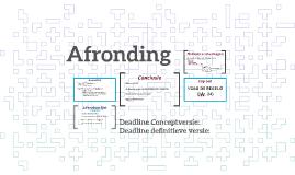 Afronding