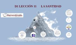 D1 LECCIÓN 11   LA SANTIDAD