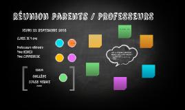 Réunion Parents/Professeurs 2016