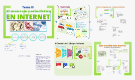 Tema III: El mensaje periodístico en Internet