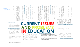 Current Issues and Problems in Education