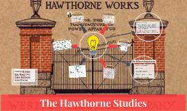 Elton Mayo Hawthorne Studies
