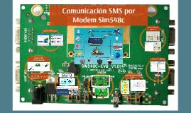 Comunicacion SMS por Moden Sim548c