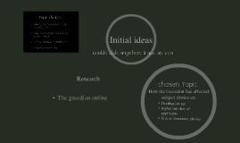 Brainstorm of initial ideas