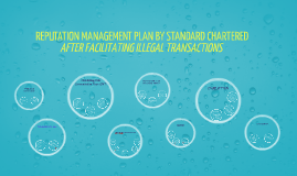 REPUTATION MANAGEMENT PLAN BY STANDARD CHARTERED AFTER FACIL