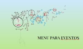 MENU PARA EVENTOS