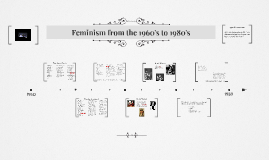 Feminism  From the 1960's to 1980's