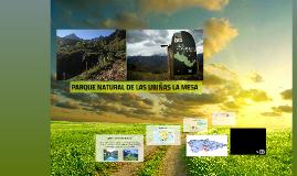 PARQUE NATURAL DE LAS UBIÑAS LA-MESA