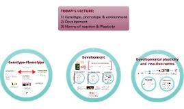 Development - Reaction norms