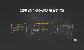 CRISIS COLOMBO-VENEZOLANA 2015