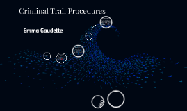 Criminal Trail Procedures