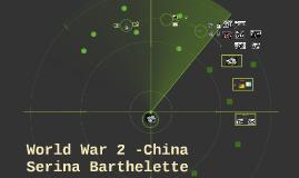 World War 2 -China