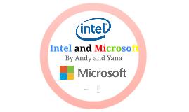 Intel and Microsoft