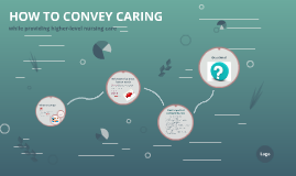 HOW TO CONVEY CARING