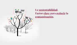 La sustentabilidad.