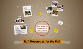 ELA Resources for the Fall