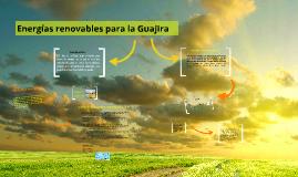 Energías renovables-La Guajira