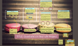 Quadratics in Real Life Project