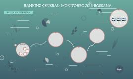 RANKING GENERAL- MONITOREO 2015-ROSSANA