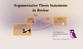 Argumentative Thesis in Review