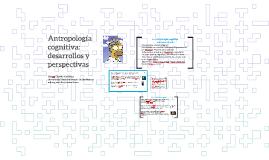 Antropología cognitiva: desarrollos y perspectivas