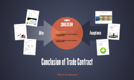 Conclusion of Trade Contract