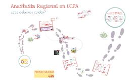 Anestesia Regional en UCPA