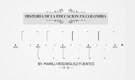 HISTORIA DE LA education EN COLOMBIA