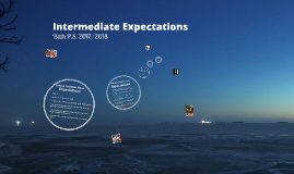Intermediate Expectations for 2014/2015 - Bath P.S.