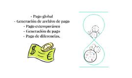 Pago global, Generación de archivo de pago, Pago extemporáne