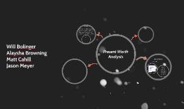 Present Worth Analysis