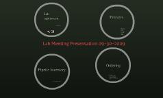 Lab Meeting Presentation