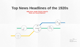 Top News Headlines of the 1920s