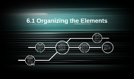 6.1 Organizing the Elements