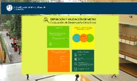 Validación de metas evaluación de desempeño directivos UCSH