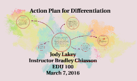 Action Plan for Differentiation