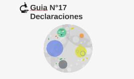 Guia N°17 Declaraciones