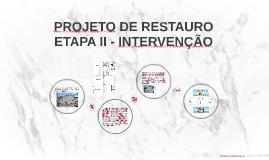 PROJETO DE RESTAURO