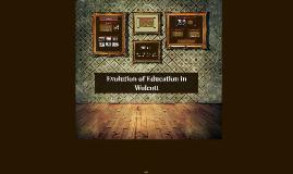 Evolution of Education in Wolcott