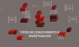 TIPOS DE CONOCIMIENTO E INVESTIGACIÓN