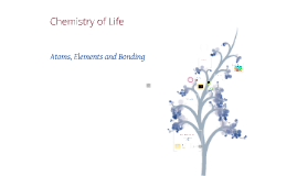 Chemistry of Life- Atoms, Elements and Bonding.