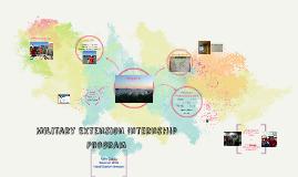 Military EXtension Internship
