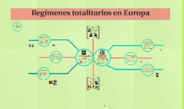 Régimenes totalitarios en Europa
