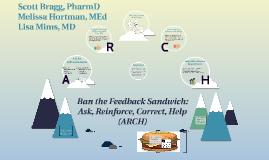 STFM Ban the Feedback Sandwich