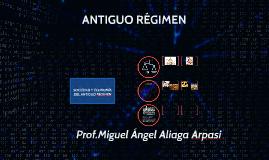 SOCIEDAD Y ECONOMÍA DEL ANTIGUO REGIMEN