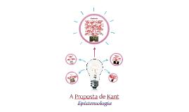 A Proposta de Kant