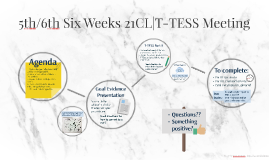 5th/6th Six Weeks 21CL|T-TESS Meeting