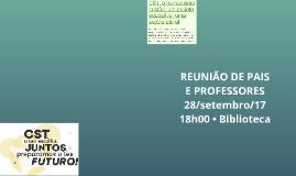 REUNIÃO DE PAIS E PROFESSORES