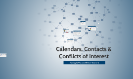 Contacts & Conflicts of Interest