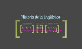 Copy of Historia de la lingüística